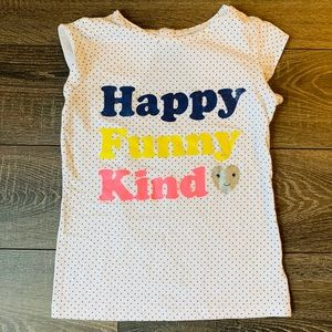5/$25 Carter's Happy, Funny, Kind Tee | Size 8